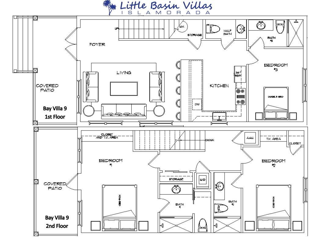 Floor Plan for Bay Villa 9