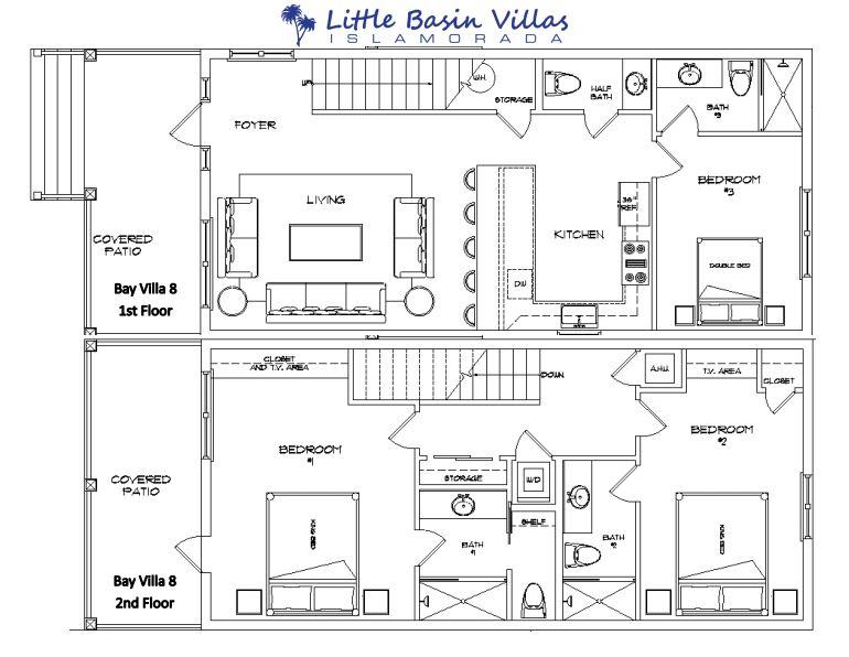 Floor Plan for Bay Villa 8
