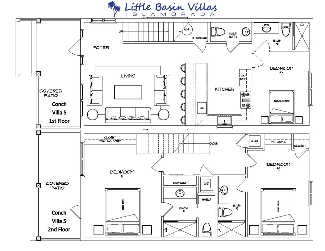 Floor Plan for Conch Villa 5
