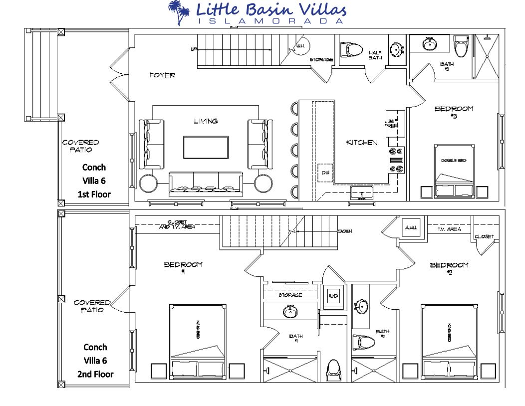 Floor Plan for Conch Villa 6