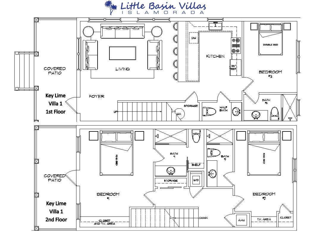 Floor Plan for Key Lime Villa 1