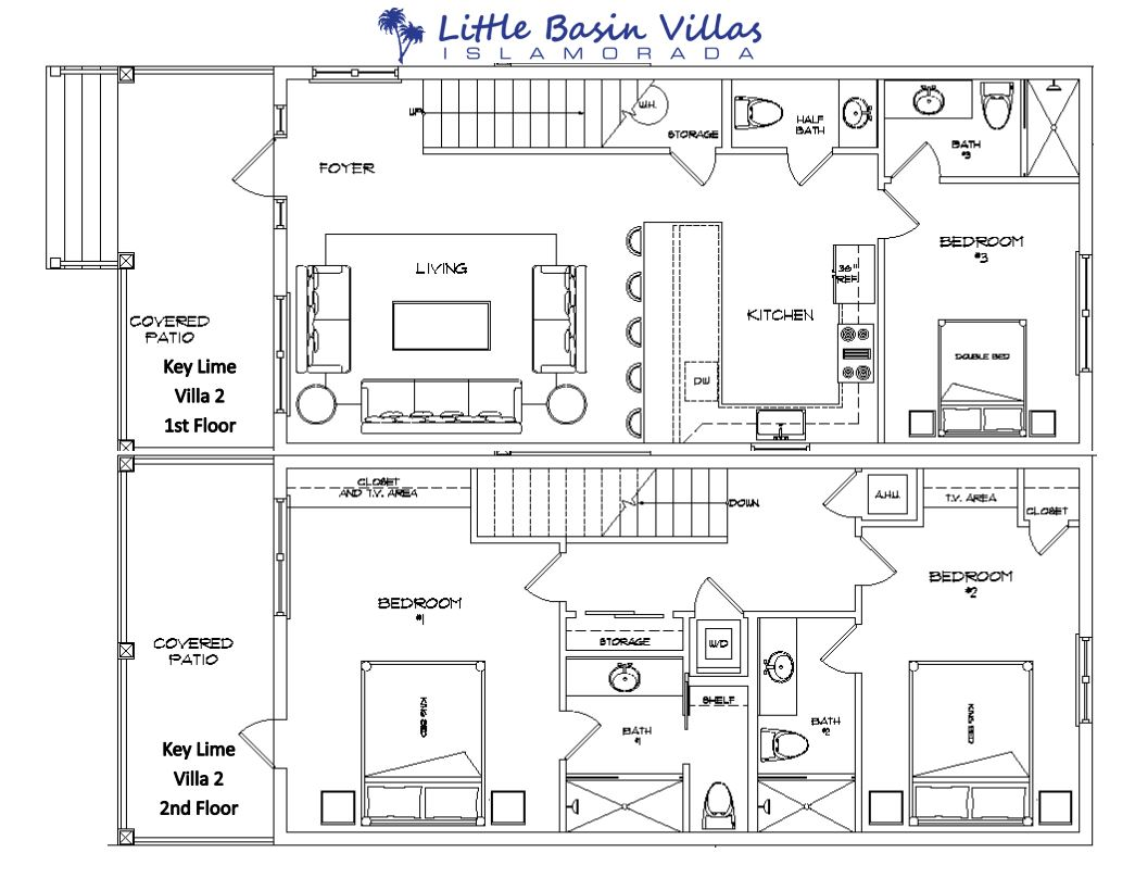 Floor Plan for Key Lime Villa 2