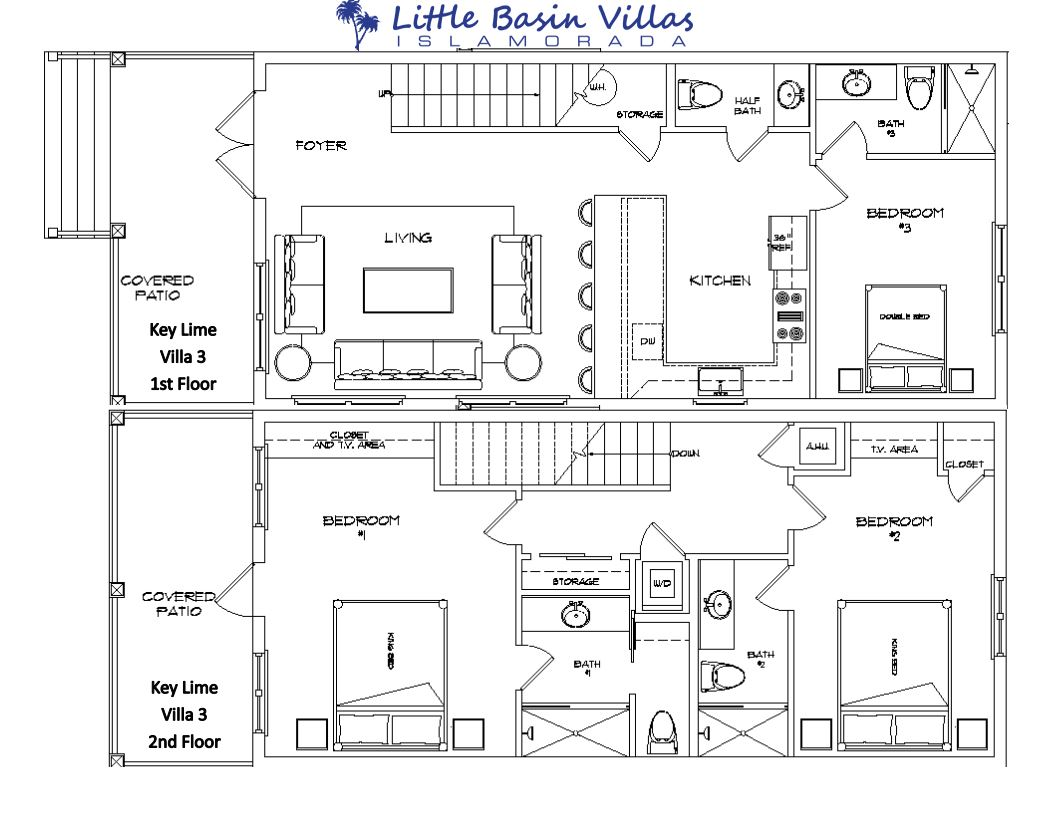 Floor Plan for Key Lime Villa 3